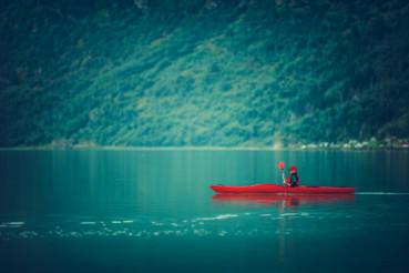 Glacial Lake Kayaking