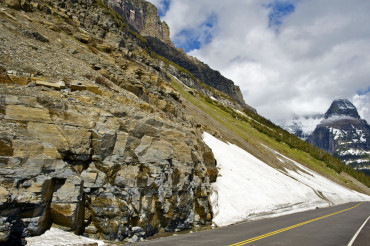 Glacier Road in Montana