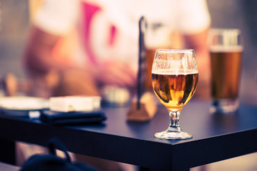 Glass of Beer on a Table