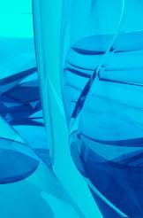 Glassy Blue 3D
