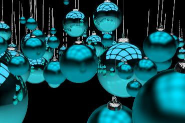 Glassy Blue Ornaments