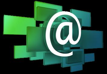 Glassy E-Mail Sign