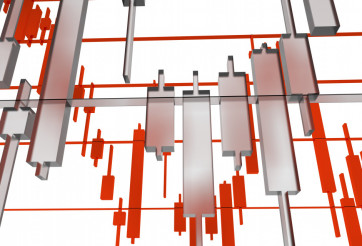 Glassy Forex Graphs Illustration
