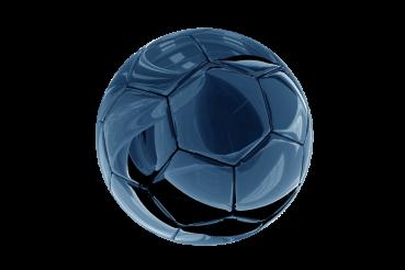 Glassy Soccer Ball PNG