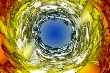 Glassy Vortex