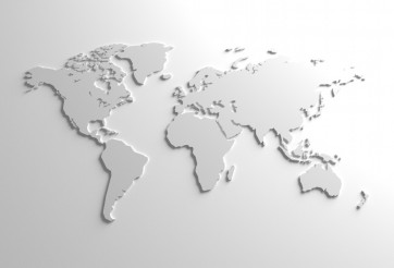 Global 3D Map Illustration