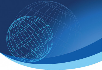 Globe Vector Blue Background