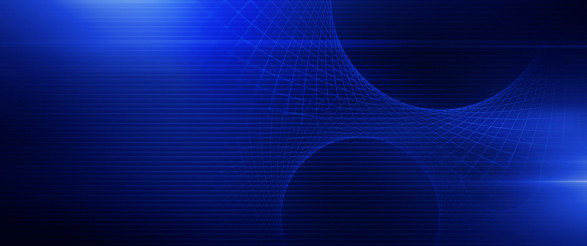 Glowing Blue Mesh Banner