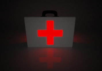 Glowing Red Cross