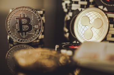 Golden BTC Bitcoin and XRP Ripple Coins