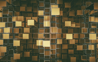 Golden Cubes Abstract Backdrop