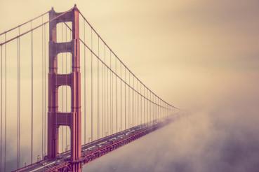 Golden Gate Into the Fog