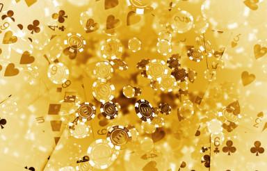 Golden Poker Background