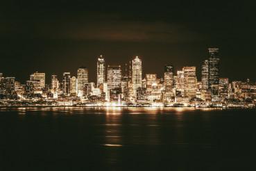 Golden Seattle Skyline