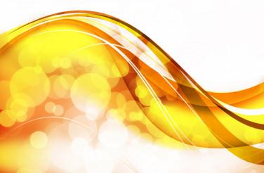 Golden Wavy Bokeh