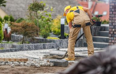 Granite Brick Paving Job