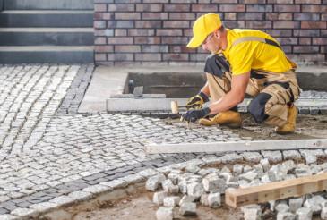 Granite Paved Brick Path