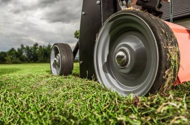 Grass Lawn Aerator Close Up