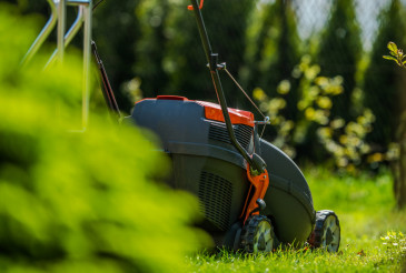 Grass Mowing in Garden