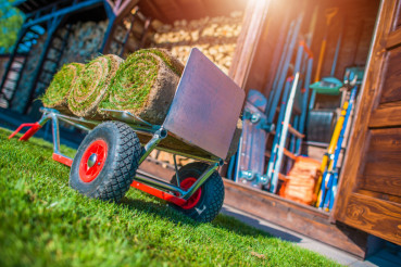 Grass Turfs on a Cart