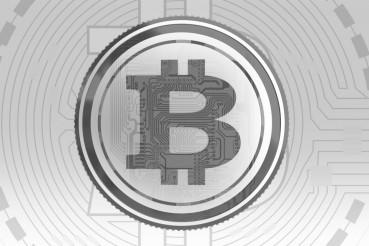 Gray Bitcoin Background