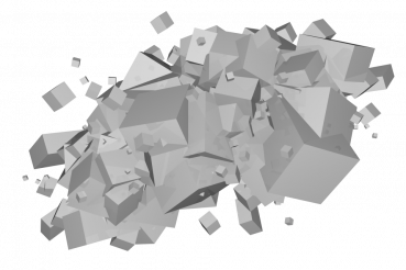 Gray Cubes PNG Isolated