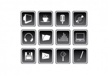 Gray Multimedia Icons