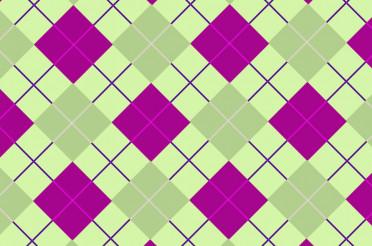 Green-Pink Vector Tartan
