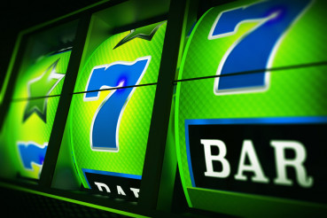 Green Blue Slot Machine 3D