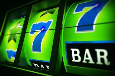 Green Blue Slot Machine 3D