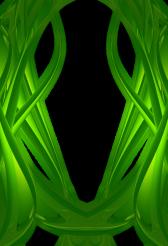 Green Glass Flames