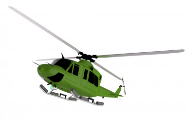 Green Helicopter Graphic