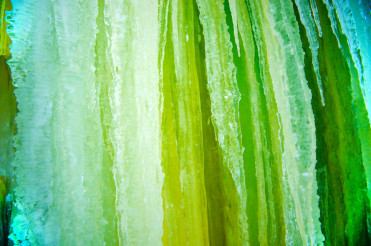 Green Icicles Background