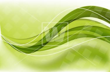Green Wavy Vector