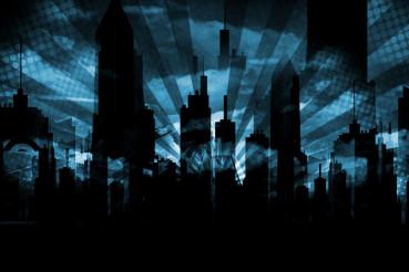 Grungy City Skyline Background