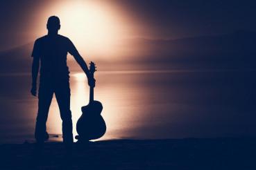 Guitarist Silhouette Concept