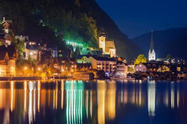 Hallstatt Village at Night