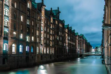 Hamburg Channel at Night