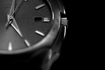 Hand Watch Closeup Black and White