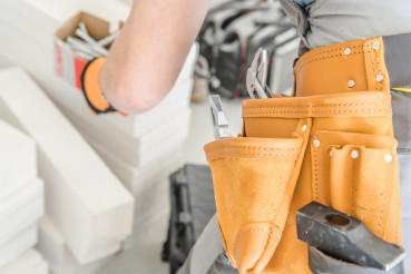 Handyman Tools Belt Closeup