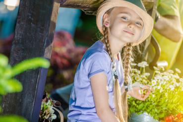 Happy Girl in the Garden