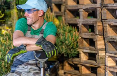 Happy Smiling Caucasian Gardener