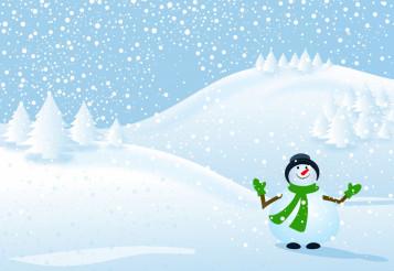 Happy Snowman Winter