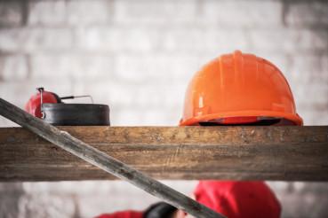 Hard Hat Construction Area