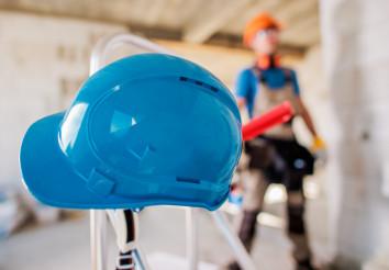 Hard Hat Construction Site