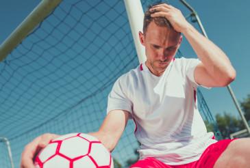 Heartbroken Soccer Player