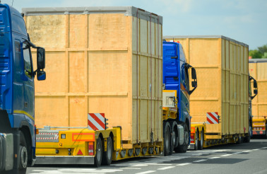 Heavy Oversize Load Convoy
