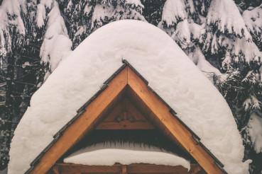 Heavy Snow Weather Concept