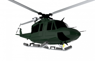 Helicopter 3D Illustration