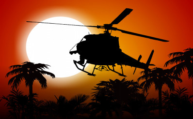 Helicopter In the Jungle